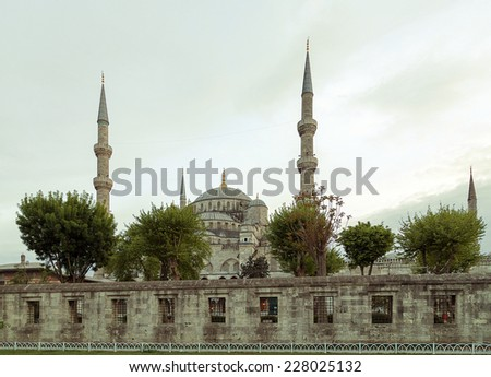 Blue Mosque Sultanahmet landmark - stock photo