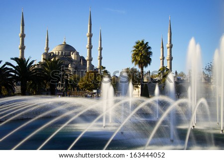 Blue Mosque with fountain, Istanbul
