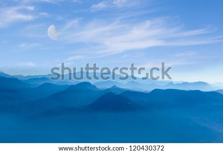 Blue Mountain - stock photo