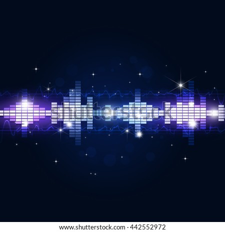 blue music multicolor background for joyful events - stock photo