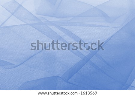 Blue netting for backgrounds