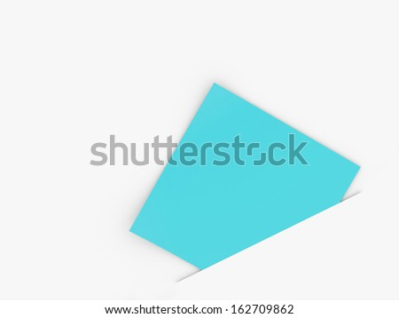 Blue note paper business concept rendered on white background - stock photo
