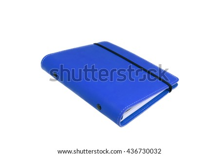 Blue Notebook with black elastic band