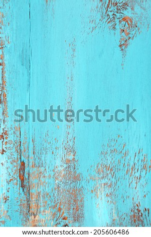 Blue old wooden background - stock photo