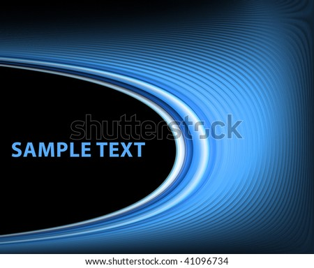 Blue on black template