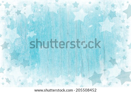 Blue or turquoise wooden christmas background with texture. - stock photo