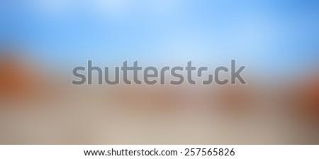 Blue, orange and brown blur background - stock photo