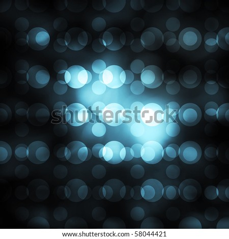 blue orb bokeh abstract background - stock photo