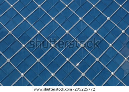 blue ornament with the silver rhombs - stock photo