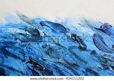 Blue Paint Textures 9  \  Blue Paint Textures 9   - stock photo