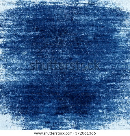 blue painted wall old paper texture grunge background - stock photo