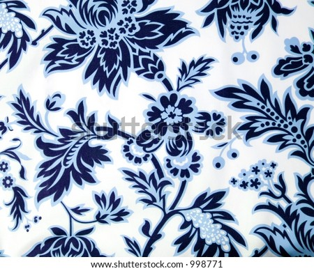blue paisley background - stock photo