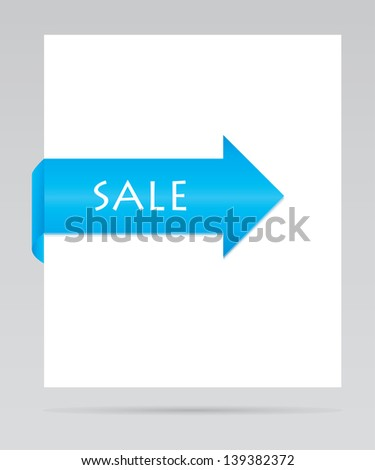 blue paper tag - stock photo