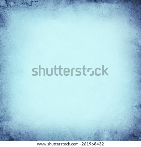 Blue Paper Texture. Background. Frame - stock photo