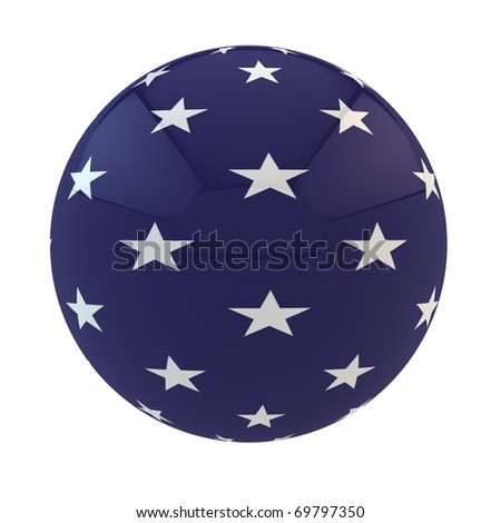 blue part of the American flag with stars on sphere