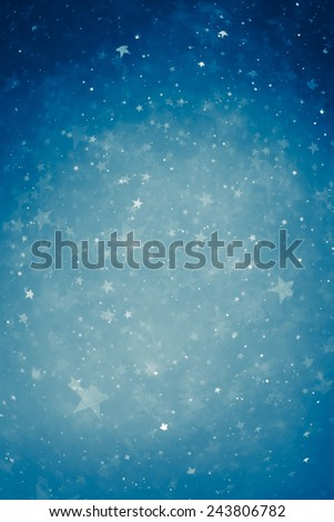 blue particle stars background - stock photo