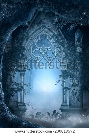 Blue passage - stock photo