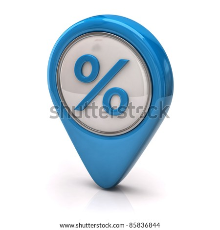 Blue percentage icon