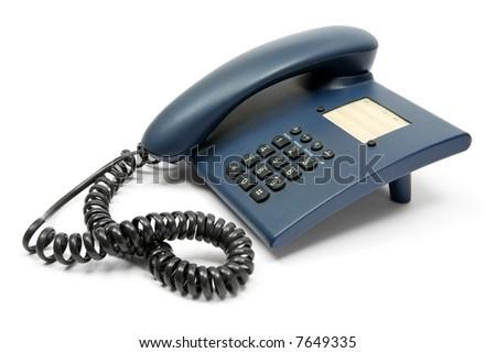 Blue Phone - stock photo