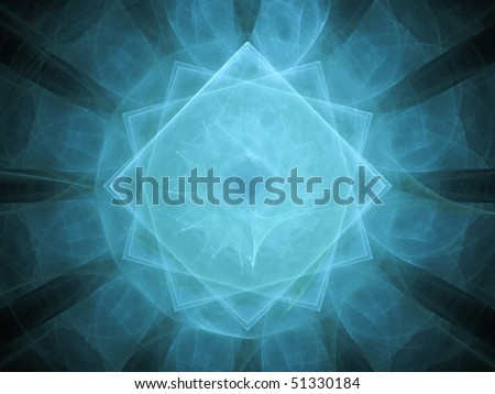 Blue Pixel Madness - stock photo
