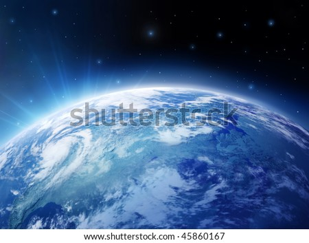 Blue Planet - stock photo