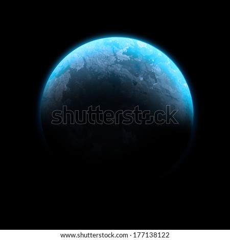 Blue Planet Isolated - Elements of this image furnished by NASA - stock photo