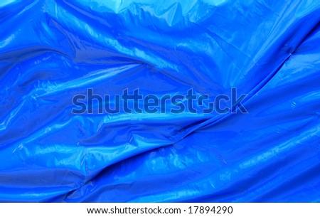 Blue plastic sheet - stock photo
