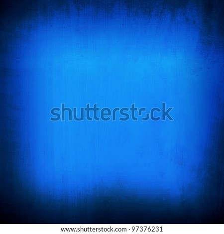 blue plate - stock photo