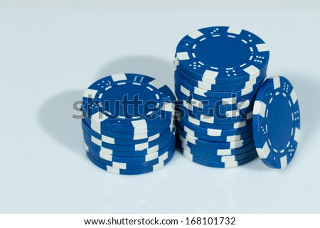 Blue Playing Poker Chips