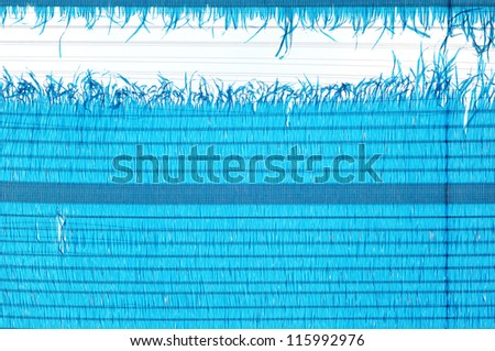 Blue polyester fabric texture - stock photo