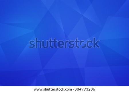 Blue Polygonal Texture - stock photo