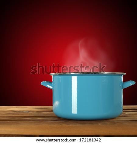 blue pot  - stock photo