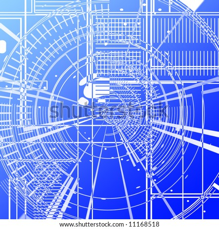 Blue print on a blue background
