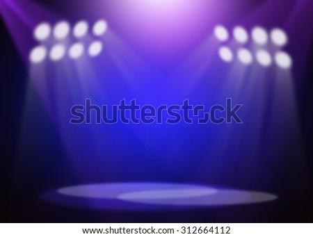 Blue&Purple stage background - stock photo