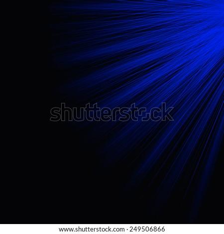 Blue rays - stock photo