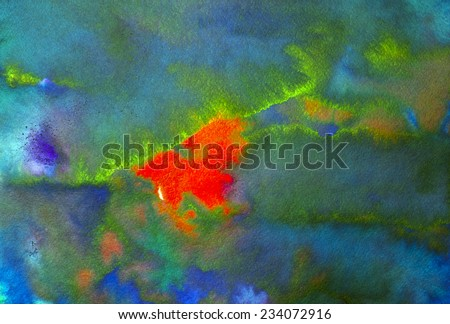 blue red and green spots - stock photo