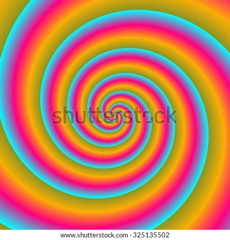 Blue red yellow optimistic spiral