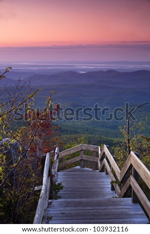 Blue Ridge Dawn - stock photo