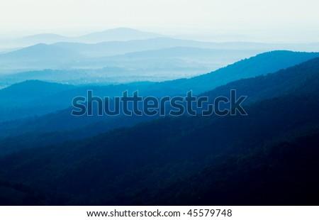 blue ridge mountains - stock photo