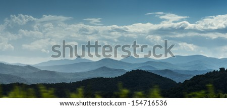 Blue Ridge Mountains scenic panorama - stock photo