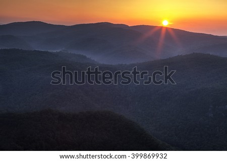 Blue Ridge Mountains Sunrise