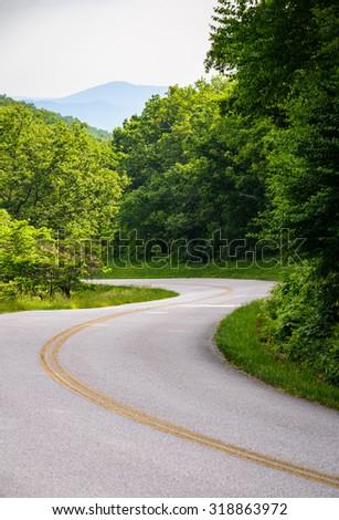 Blue Ridge Parkway - stock photo