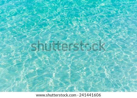 Blue ripple water wave in sea ocean. - stock photo