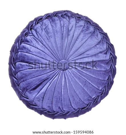 blue round pillow - stock photo