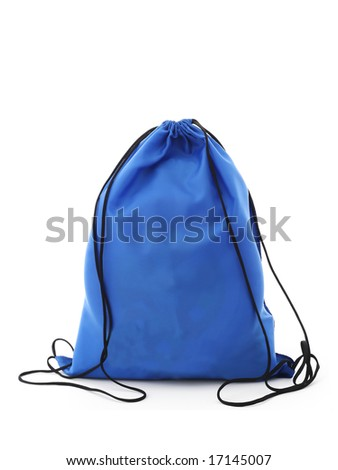blue sack - stock photo