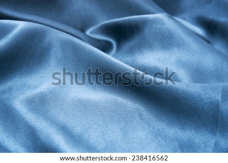 Blue satin - stock photo
