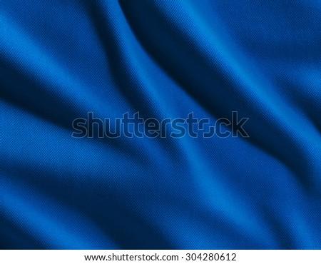Blue satin fabric - stock photo