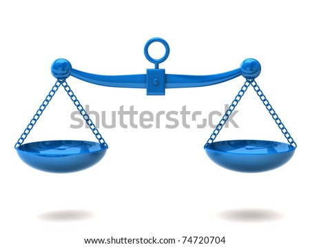 Blue scales - stock photo