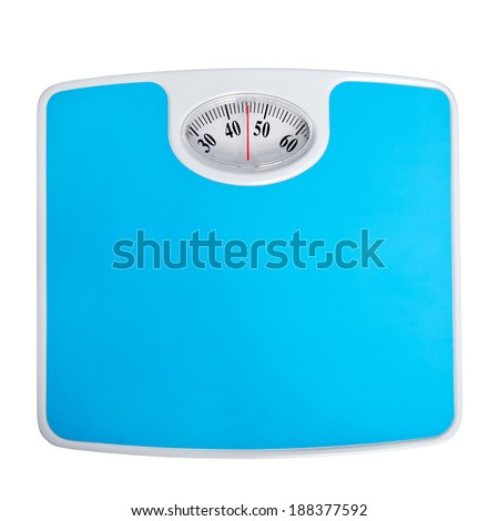 blue scales isolated on a white background
