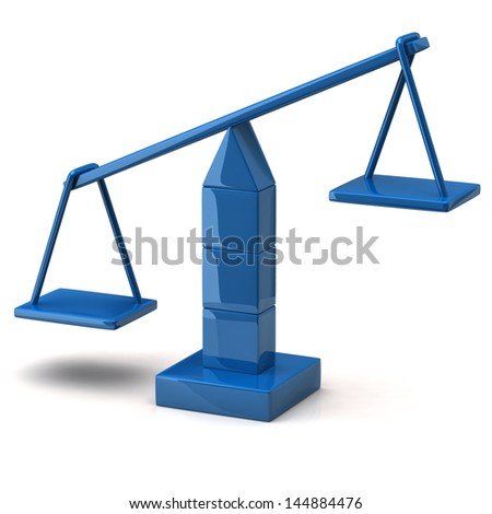 Blue scales on white background - stock photo